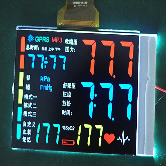 Segment LCD display screen VA display high resolution for medical application