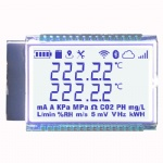 7 Segment LCD Display with LED Backlight